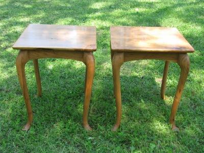 Custom Cherry Side Tables