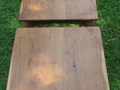 Custom Cherry Side Tables