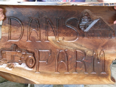 Hand Carved Sign  | Custom Woodworking by DJP Artistry
