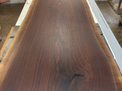 Walnut Slab Reception Desk - In Progress